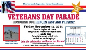 City of Sacramento Hosts Veterans Day Parade Downtown