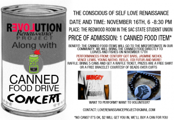Canned food drive concert