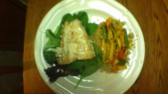 VIDEO: Baked Salmon and Quinoa