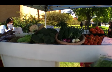 Fresh Producers selling fresh fruit at Luther Burbank High School