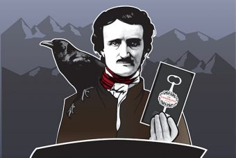 """The Slender Poe at the Sacramento Public Library"""