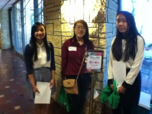 Three members of Girls on the rise who helped put on the conference.