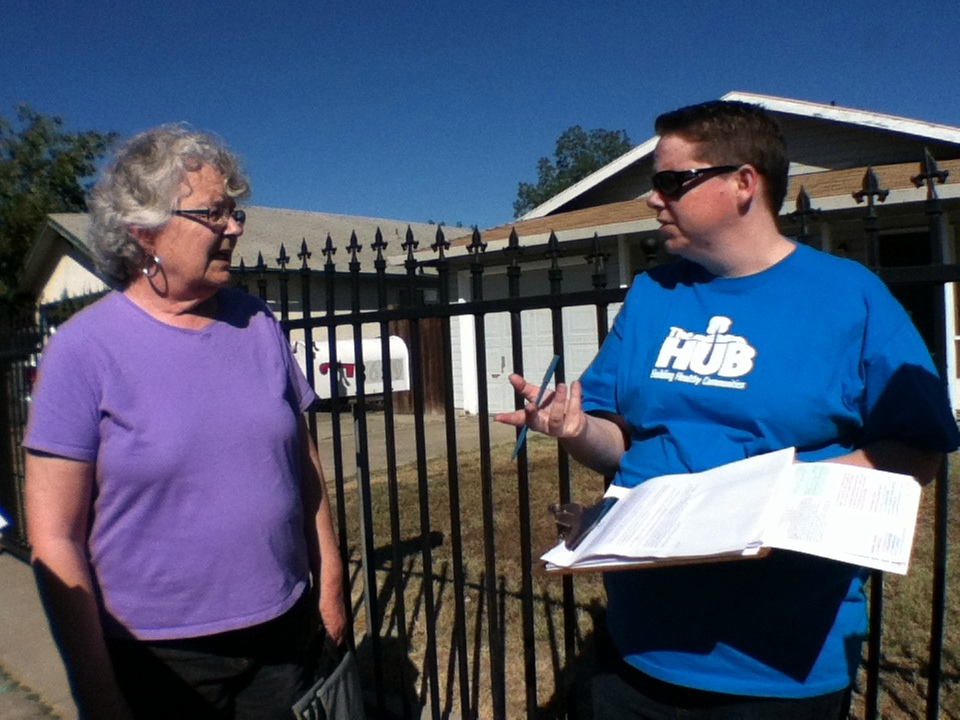 VIDEO: Volunteers Canvass South Oak Park to Get Out the Vote this November