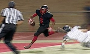 Cordova's Calvin Augusta with a 25-yard TD pass reception